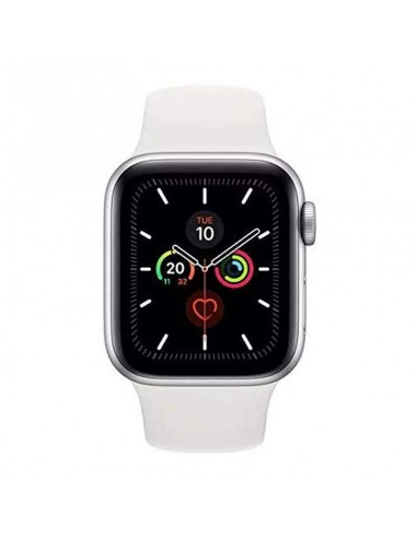Watch Series 5-40mm GPS Silver Aluminium Case With White Sport Band