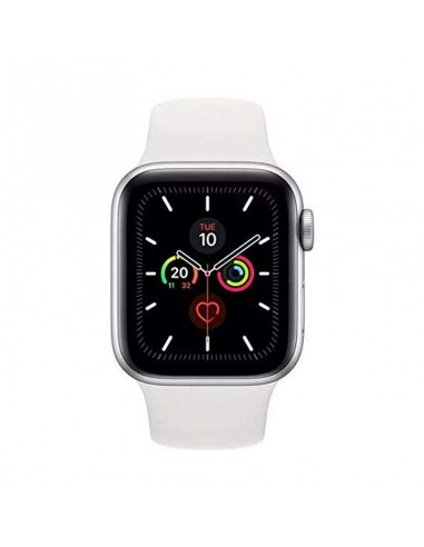 Watch Series 4-40 mm GPS Silver Aluminium Case With White Sport Band